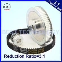 Timing Belt Pulley 5M Reduction 3:1 60teeth 20teeth shaft center distance 80mm Engraving machine accessories - belt gear kit(China (Mainland))