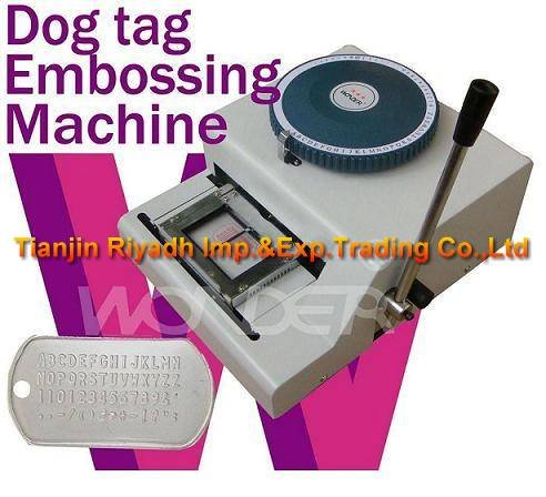 Guaranteed 100% new manual dog tag embossing machine 62D,metal tag embossing machine(China (Mainland))