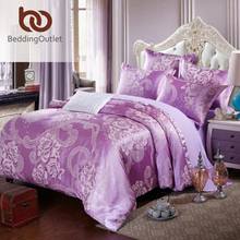 BeddingOutlet Green Bedding Set Cozy Solid Duvet Cover Tribute Silk for Bedroom Bed Sheet Queen King 4pcs(China (Mainland))