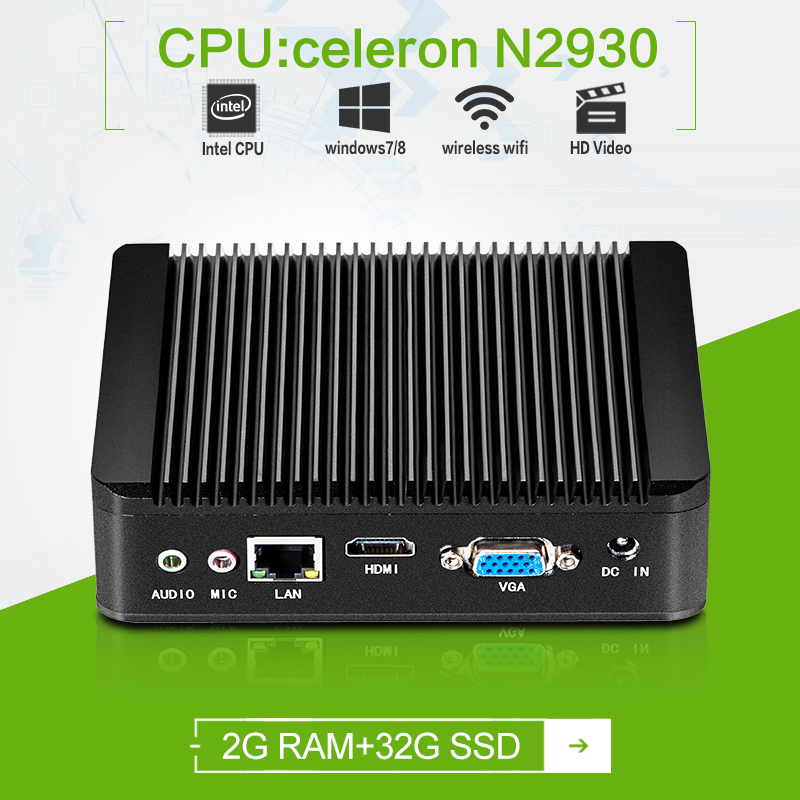 Zero client Quad -core Celeron N2930 1.83GHZ 2g ram 32g ssd VGA+HDMI support hd video and office mesenger, skype, video call(China (Mainland))