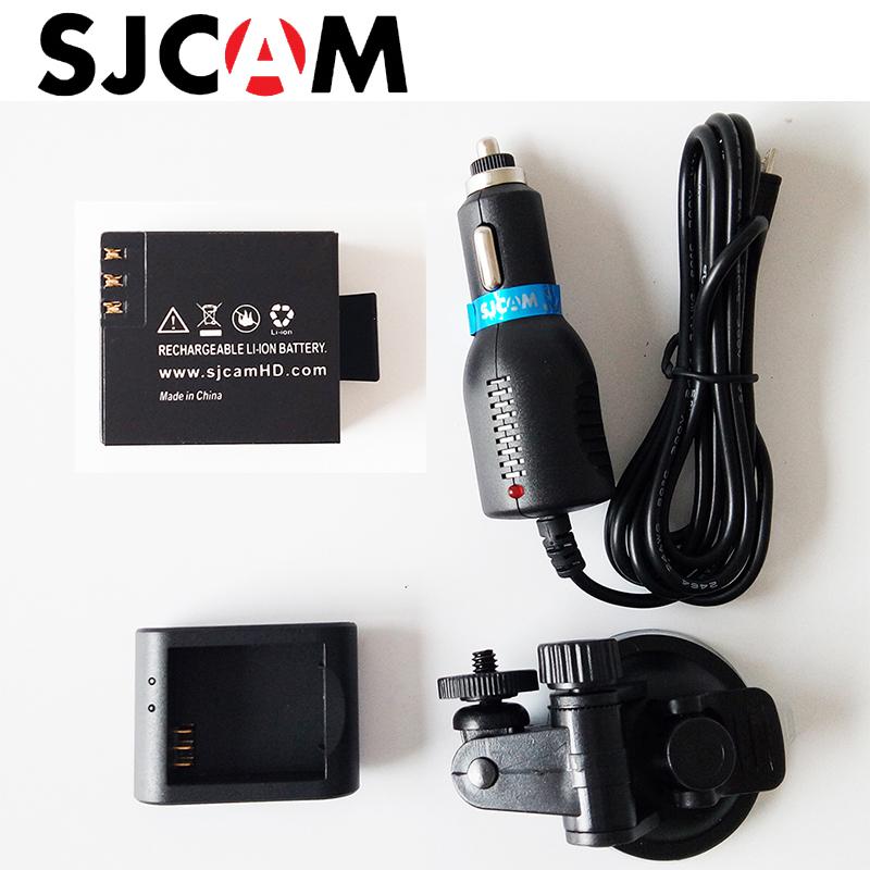 SJCAM Accessories Desktop Charger + Car Charger + Car suction cup bracket + sj4000 Rechargeable Battery for SJCAM SJ4000 SJ5000(China (Mainland))