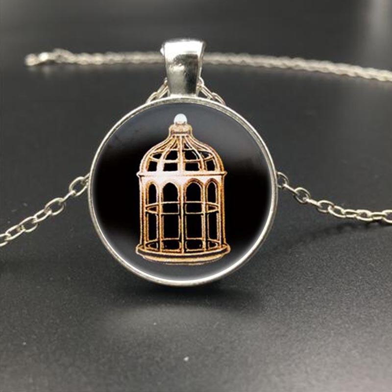 7 Style Bioshock Infinite Heart Bird Cage Logo Pendent Silver Necklace Choker Men Jewelry Statement Necklace Best Friend Gift(China (Mainland))