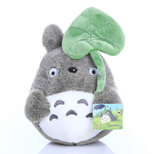 Free shipping wholesale 20cm lovely plush toy, my neighbor totoro plush toy lovely doll totoro with lotus leaf