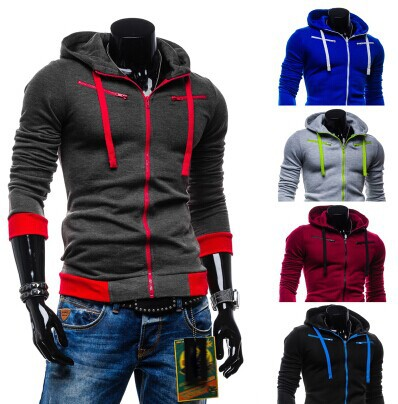 2015 Foreign Trade New Men's Casual Fashion Cardigan Fleece Hoodie Jacket And Fan Hoodies Men(China (Mainland))