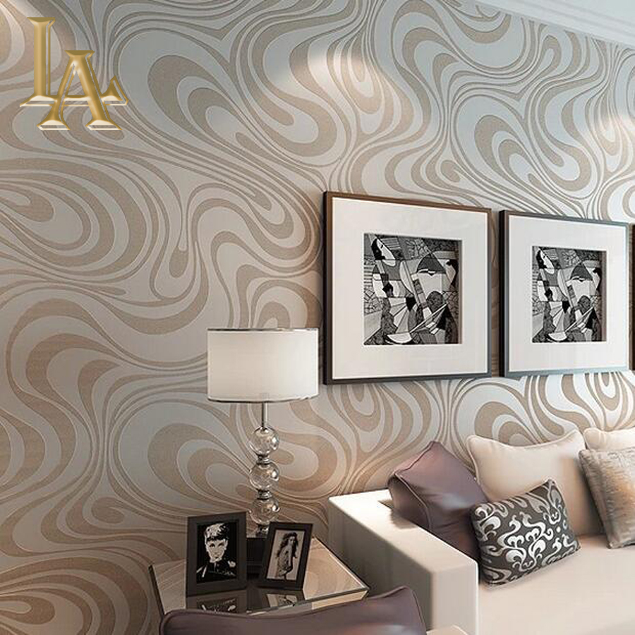 High quality 9.5m*0.53m 3D Embossed Flocking Striped Mural Wallpaper Roll Modern Living room Wall paper papel de parede W329(China (Mainland))