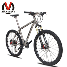 "SAVA 26"" 30 Speed MTB Mountain Bike-Knight Titanium Alloy Frame Magnesium Gas Suspension Fork Bicicletas Bisiklet SHIMANO(China (Mainland))"