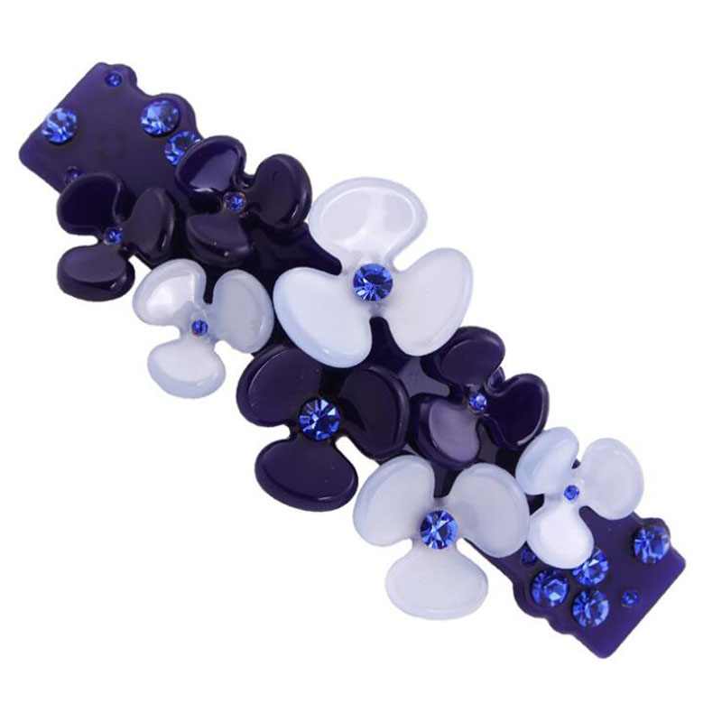 2015 Girls Flowers Wedding Hair Barrette With Rhinestones Retro Bridal Hairpins Luxury Acrylic Hair Ornaments(China (Mainland))