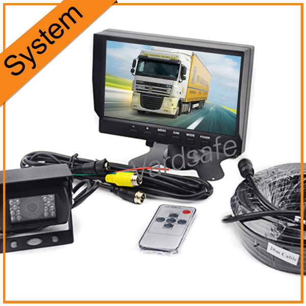 "Top Rated Rear View Camera system With 7"" Inch Car TFT LCD Screen Monitor And 20 Meters Cable Complete Kit(China (Mainland))"