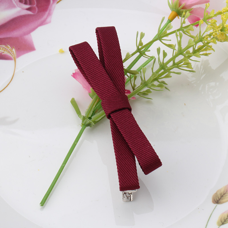 M MISM Summer Vintage Bow Women's Solid Barrettes Big Bowknot Hairpins Fashion Hair Clips Girl's Headwear Wholesale Accessories(China (Mainland))