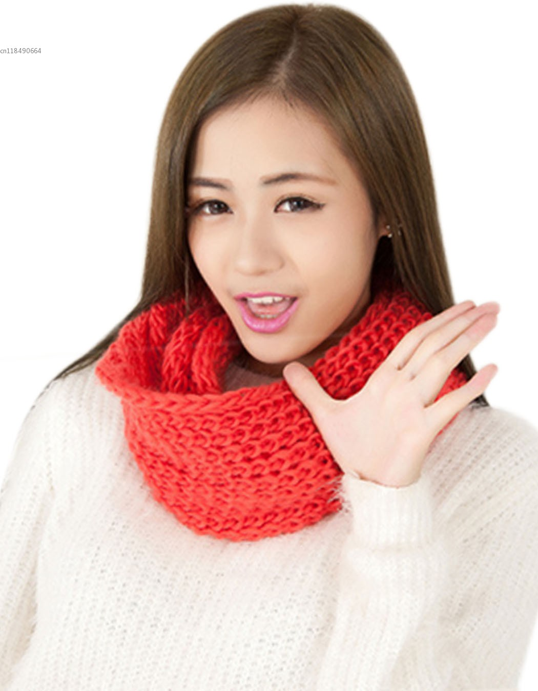 2014 New Autumn And Winter Solid Color Yarn Knitted Scarf Muffler Collars Neck Scarves Wool Yarn Scarf For Women Gifts 10