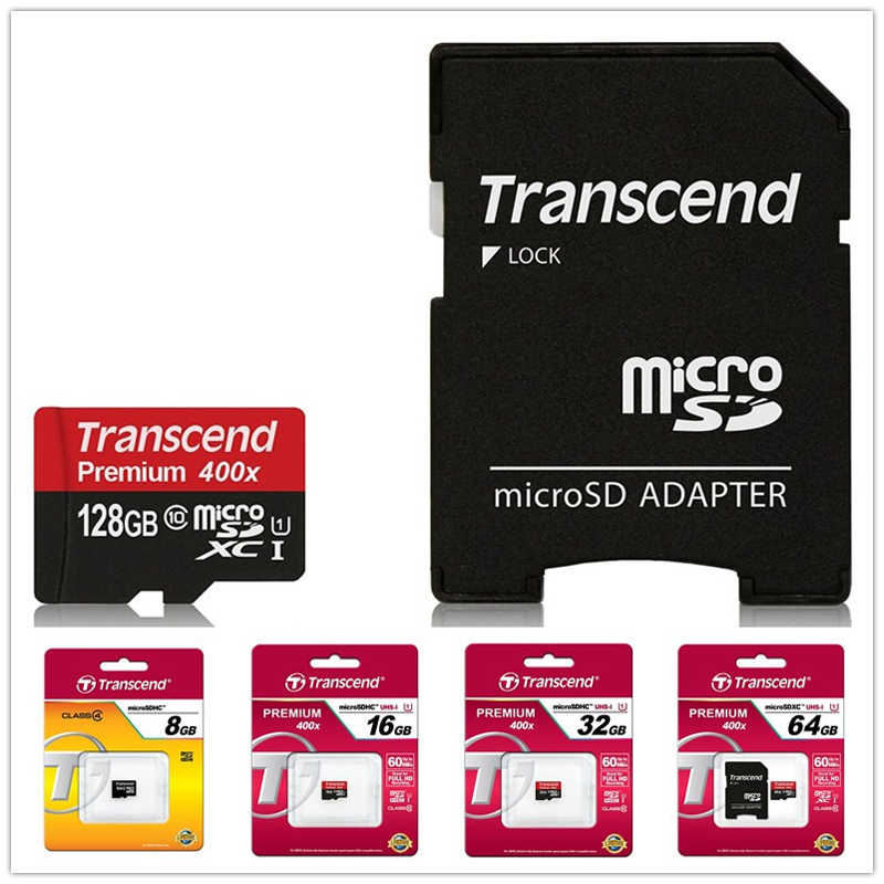 Transcend High Quality 128GB 64GB 32GB 16GB Micro SD card Class10 UHS-1 SDHC SDXC High Speed 8GB Class4 TF T-Flash Memory Card(China (Mainland))