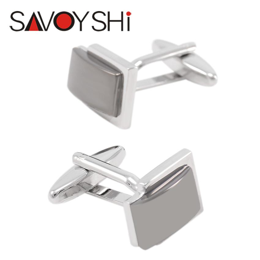 2 Color Cufflinks for Mens Brand Shirt High Quality Classic Square Cufflinks Business Gift fashion SAVOYSHI Brand Jewelry Design(China (Mainland))
