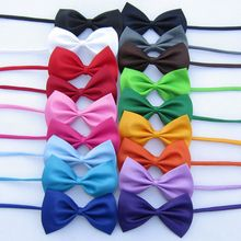 2015 New Arrival Cute Kids Boys Bow Tie Children Butterfly Type Necktie 1 Pcs 17 Colors pets bow ties solid color