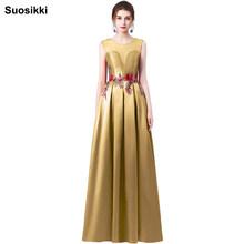 Suosikki חדש שמלה לנשף אונליין פרח הארוך vestidos de festa שווי שרוול פורמליות ערב המפלגה שמלת משלוח חינם Robe de soiree(China)