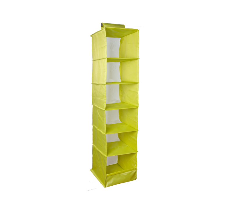 IKEA Style Multifunction Storage Collection Foldable Hanging 6 Compartments Shelf Closet Organizer, Green, low price(China (Mainland))