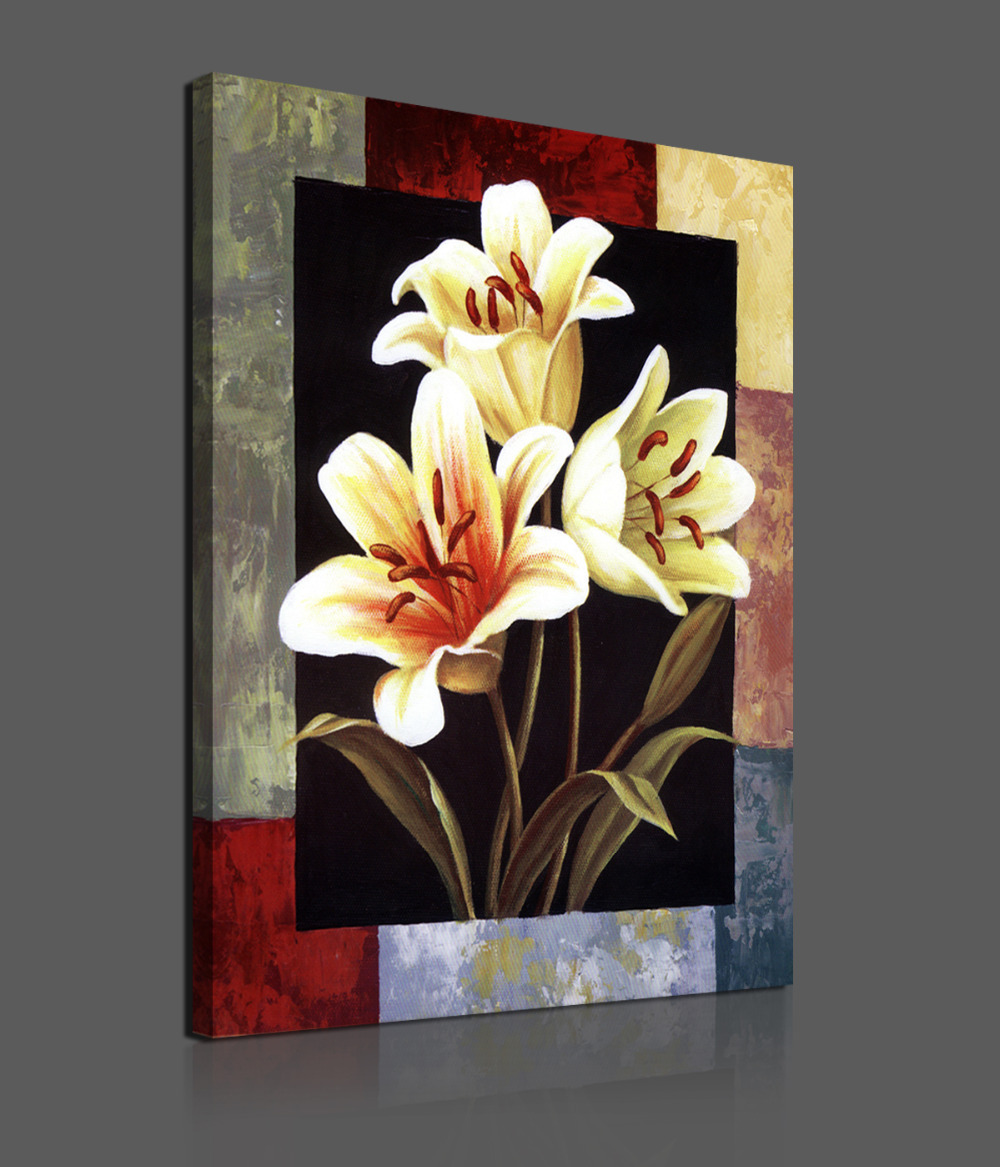 1 Pieces Modern Canvas Painting Flowers Home Decoration Wall Art HD Picture Paint Prints - Whisper of painting store