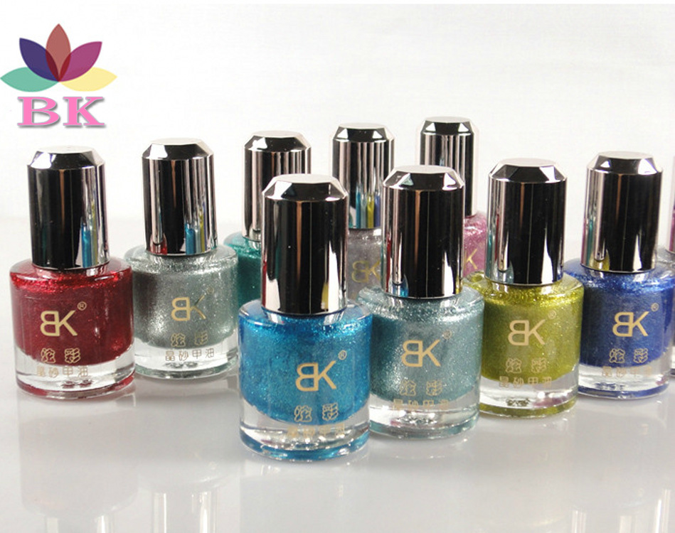 2015 Authentic Bk 24 color nail polish frosted crystal sand shell oil 10 ml(China (Mainland))
