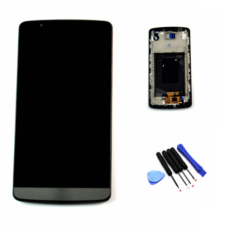 Gray lcd screen for LG G3 D850 D851 D855 LCD Touch Screen Digitizer With Frame Replacement Assembly Free shipping