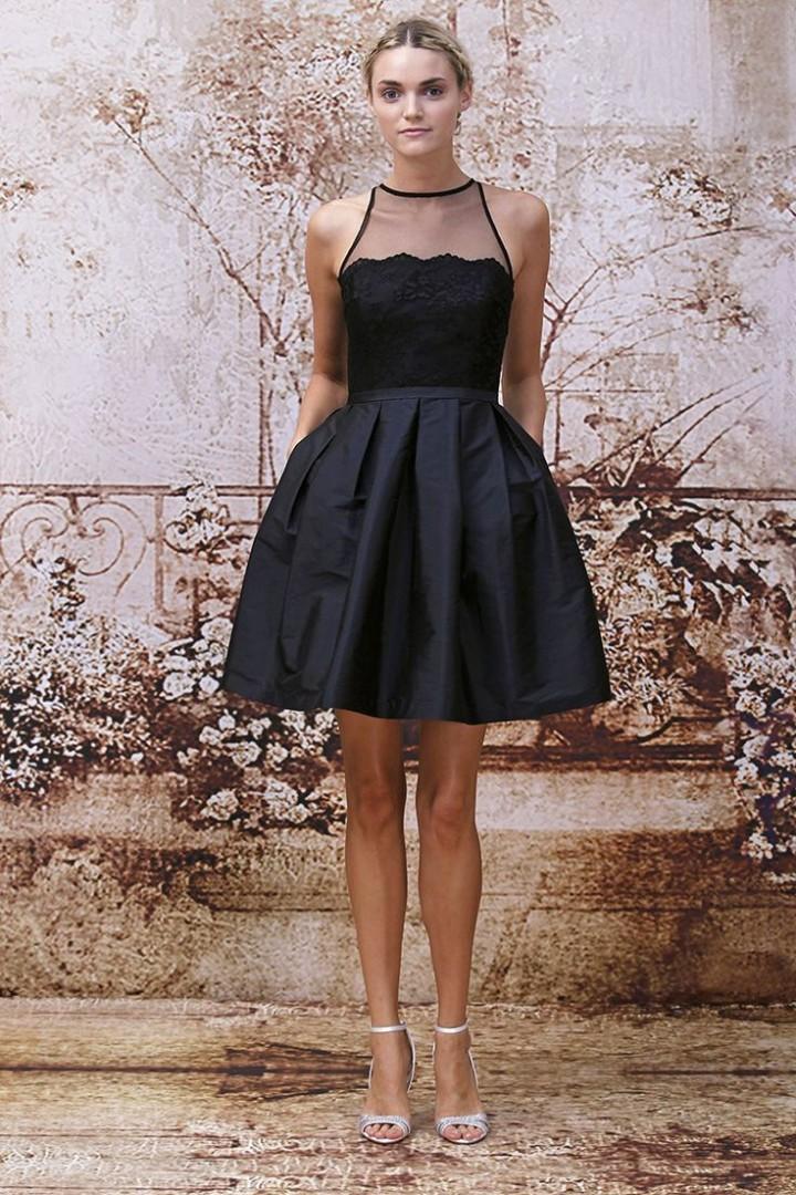 short black lace bridesmaid dresses the image kid has it. Black Bedroom Furniture Sets. Home Design Ideas