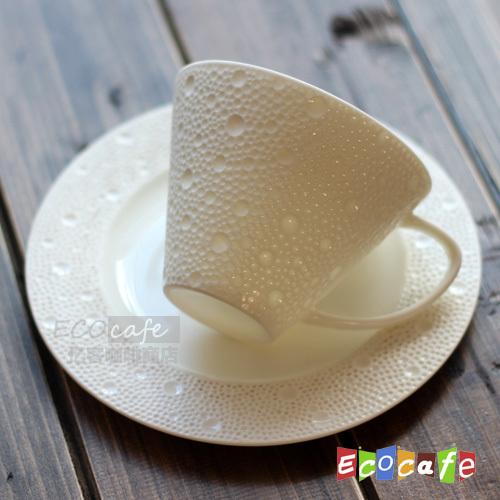 mug+saucer 150ML Dream drop high temperature white porcelain coffee cup fashion cup set cup and saucer creative unique milk mug(China (Mainland))