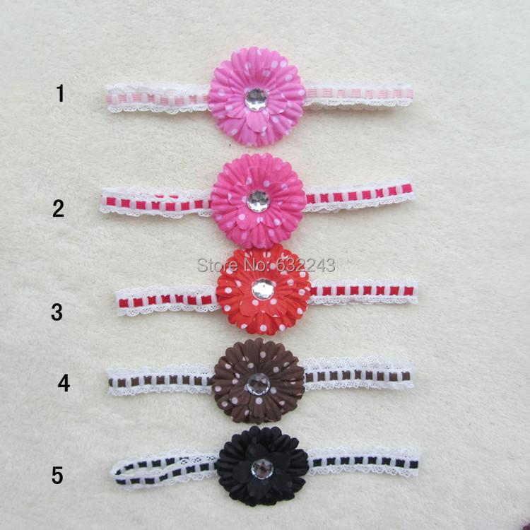 1 piece hair accessory newborn infant girls Baby flower rhinestone elastic Headbands,Baby Hairbands,Baby Hairbows free shipping(China (Mainland))