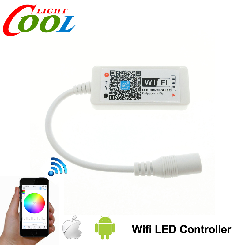 Wifi LED RGB Controler DC12V MIni Wifi RGB / RGBW LED Controller for RGB / RGBW LED Strip.(China (Mainland))