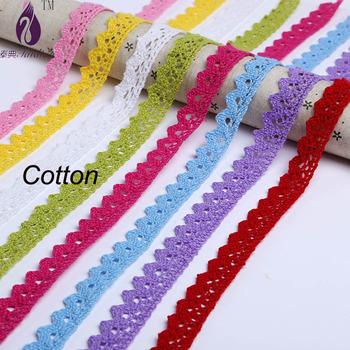 Cotton Lace Fabric White Crochet Lace Ribbon Tape Craft Decoration Fabric 4yards/lot 20mm width