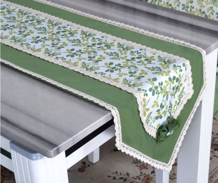 product Wedding Decoration Pastoral Floral Design Caminho De Mesa Beautiful Vibrant Green Leaves Lace Table Runner