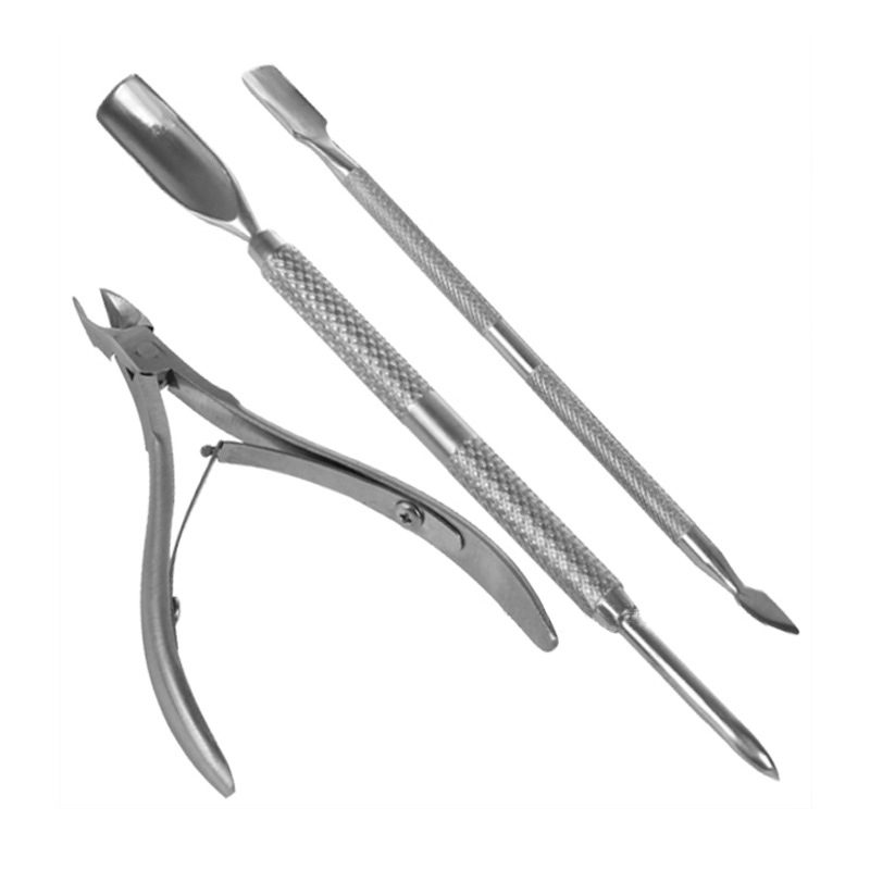 Nail Tools 3Pcs/Set Stainless Steel Nail Cuticle Nipper Spoon ...