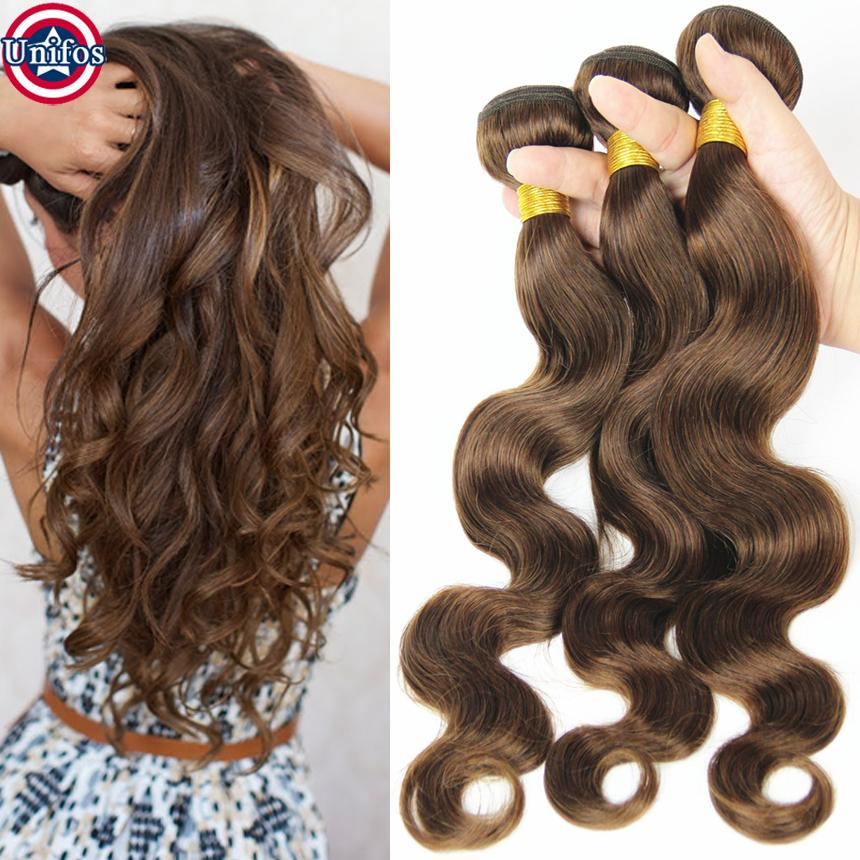 Grade 8A Best Brazilian Weave Hair Color 4 Light Brown Human Hair  Extensions Light Brown Virgin