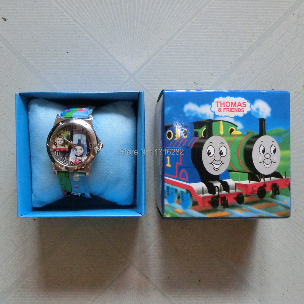 Cartoon 1pcs Watch Thomas the Tank Engine & Friends Watch kid Watch Children watch with box(China (Mainland))