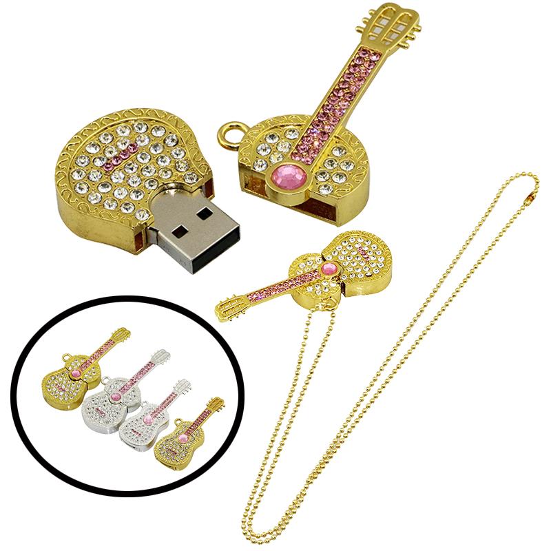 pendrive usb flash drive crystal guitar Violin necklace 4gb 8gb 16gb 32gb 64gb usb memory jewelry usb flash memory gift(China (Mainland))