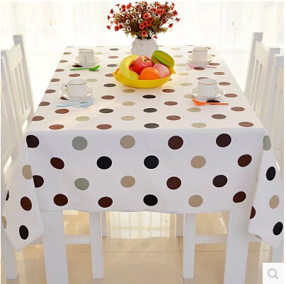 Free Shipping Colorful Polka Dot Cotton Tablecloth for Wedding Decoration Sizes of Square Tablecloths Home Decor OverlaysTC0017(China (Mainland))