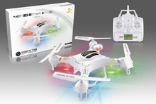 X118 2.4Ghz 6-Axis Gyro RC Quadcopter Drone With 0.3MP HD Camera Color White RC UFO like CX20
