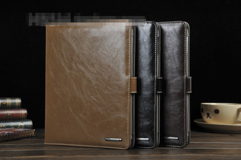 FREE SHIPPING 3 COLORS Luxury Leather Case for iPad 2 3 4 Soft Surface Tablet PC Cover.