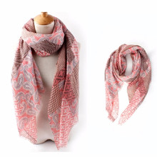 New 90x185cm 5Color Oversized Winter Print Tartan Plaid Long Scarf Cotton Wrap Shawl Designer Pashmina Stole for Lady Women Girl