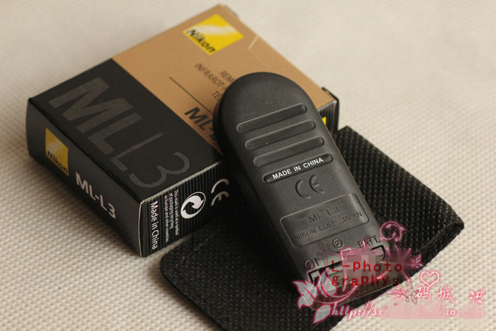2pcs New Nikon ML-L3 Wireless IR Remote Control for D7000 D5100 D5000 D80 D90 J2 J1 With Tracking Number(China (Mainland))