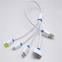 5PCS 4in1 Multi USB Charger Charging Cable Cord For iPhone 4 5 6 Samsung HTC LG Phone Power bank