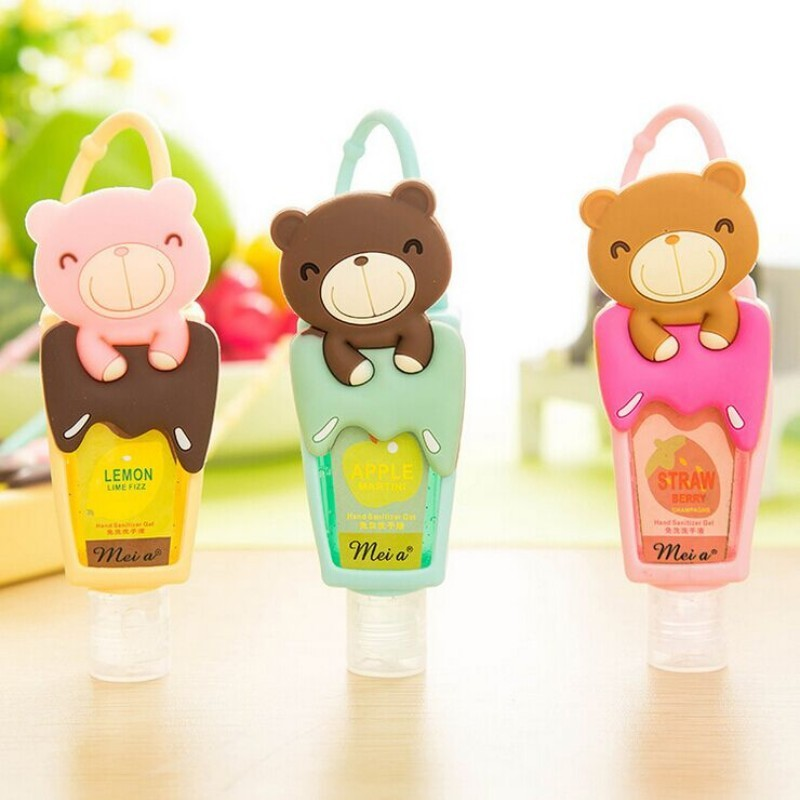 1pcs Lovely Teddy Bear hung Travel portable Mini Plastic Bottle hand sanitizer/Shampoo/Makeup fluid bottle Bathroom products