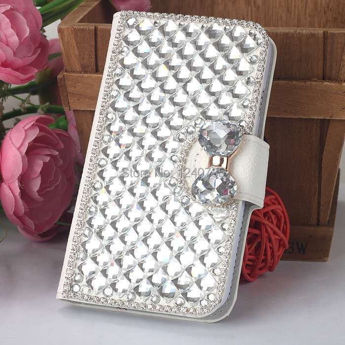 New arrival Bling diamond Hard leather Case Cover For Smart phone LG L70 L 70 phone cases Free shipping(China (Mainland))