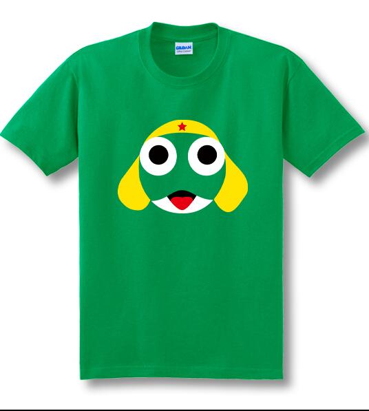 1 piece HOT SALE 2015 new Anime Cartoon Frog Sergeant Keroro Culolo short sleeved t-shirt men and women(China (Mainland))