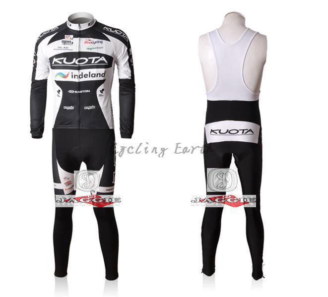 Winter clothes! 2010 KUOTA Winter long sleeve cycling jerseys+bib pants bike bicycle thermal fleeced wear+Velveteen!