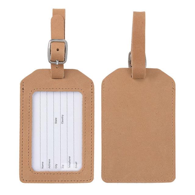Натуральная кожа багажную бирку коричневый цвет для туристического бизнеса Suicase ...