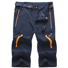 SUMMER Men s shorts Lightweight Hiking fishing camping Outdoor sport Polyester Breathable Wear quick drying rock