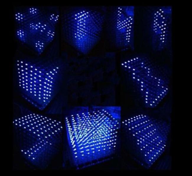 8 из светодиодов куб белый
