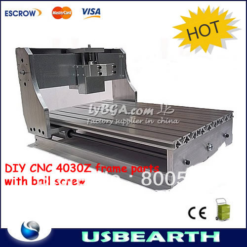 DIY CNC 4030Z frame parts, mini CNC engraving machine CNC router lathe bed with ball screw(China (Mainland))
