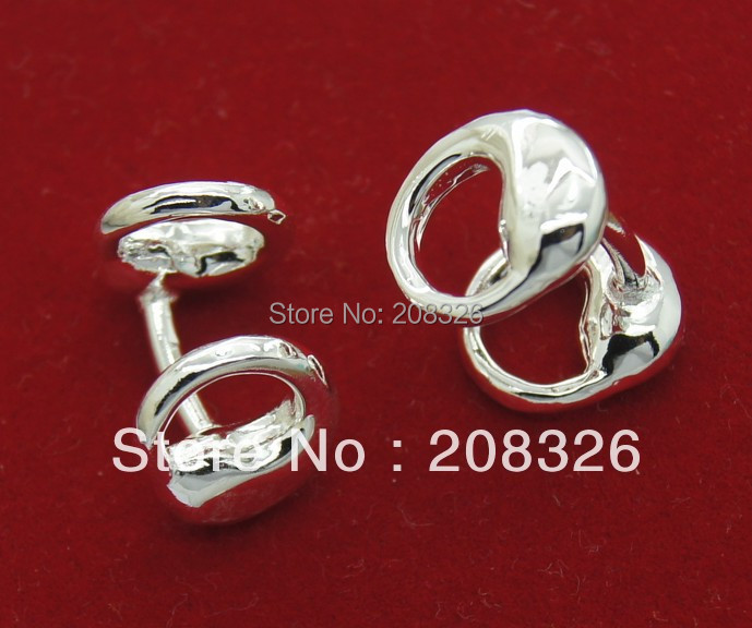 925 sterling Silver Superman Cufflinks Free Shipping Promotion sale , men 's jewelry(China (Mainland))