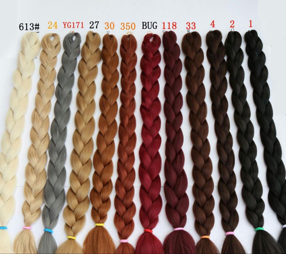 165g Synthetic Braiding Hair Extensions Twists 82'' Purple Ombre Kanekalon Jumbo Braiding Hair Colors Synthetic Bulk False Hair