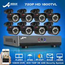 Buy ANRAN 8CH 1080N HDMI AHD DVR CCTV System+8pcs 720P HD 1800TVL Outdoor Weatherproof Camera Home Security Video Surveillance Kit for $200.07 in AliExpress store