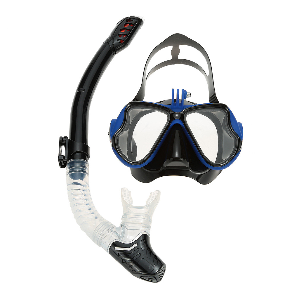 LIXADA Scuba Diving Mask Snorkel Glasses Set Silicone Snorkeling Mask + Full Dry Snorkel Swimming Pool Equipment Accessories(China (Mainland))